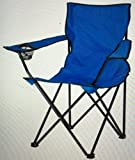 Folding Camping Chair, Portable Carry Bag for Storage and Travel, Best Durable Outdoor Quad Beach Chairs, Comfortable Arms, Space Saving, Lightweight Great for Transport, Sports, Fishing and Hiking (Midnight Blue)