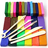 H&S® 650g 26 Colours Oven Bake Polymer Clay Block Modelling Moulding Sculpey Tool set
