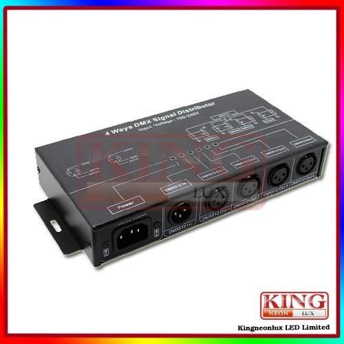 Dmx124 4 Ways Signal Distributor For Dmx512 Digital Lighting