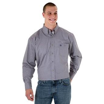 George Strait Tall Mens Long Sleeve Print Shirt