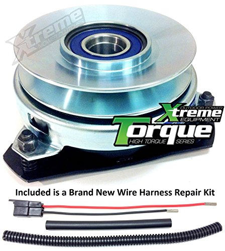 Bundle - 2 items: PTO Electric Blade Clutch, Wire Harness Repair Kit. Replaces Dixie Chopper 50300 PTO Clutch - Bearing Upgrade w/ Wire Repair Kit (Chopper Wire compare prices)