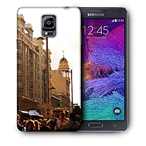 Snoogg Peoples In Street Printed Protective Phone Back Case Cover For Samsung Galaxy NOTE 4 / NOTE IIII