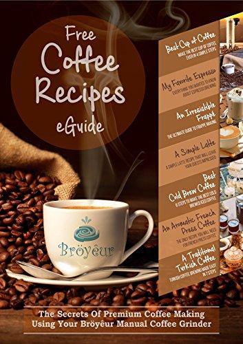Burr Manual Coffee Bean Hand Crank Ceramic Mill Grinder. Turkish, French Press, Espresso, Bröyêur. Adjustable Grind Size, COMPLIMENTARY Recipes eGuide, Brush, Waterproof Bag. Aeropress Friendly