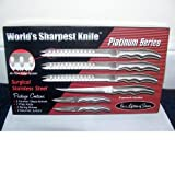 Forever Sharp Platinum Series Surgical Stainless Steel Knife Set + Bonus!