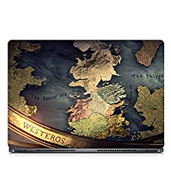 Inktree Vinyl Earth Matte Finish Adhesive Laptop Skin (15 inch x 10 inch, Mulicolor)