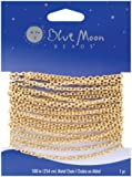 Blue Moon Fine Cable Chain, 100-Inch, 1/Pkg, Gold