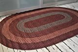 Oval Rustic Jute 120x180cm rug for Kitchens Conservatories. American Braid style