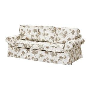 ikea sofabezug ektorp pixbo abnehmbarer bezug in beige wei f r ektorp sofa 3 sitzer 100. Black Bedroom Furniture Sets. Home Design Ideas