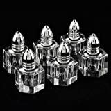 Badash Optical Crystal Individual Salt And Pepper Shakers, Height 2-Inch, Set Of 6