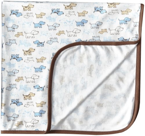 Little Me Baby-Boys Newborn Cute Puppies Blanket, White Print, One Size