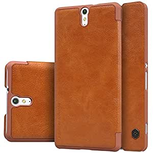 Nillkin Qin Series Leather Window Flip Case Cover for Sony Xperia C5 Ultra - Brown