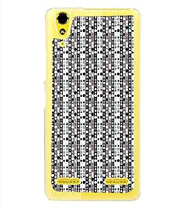 ifasho Designer Phone Back Case Cover Lenovo A6000 :: Lenovo A6000 Plus :: Lenovo A6000+ ( Blue Yellow Colorful Pattern Design )