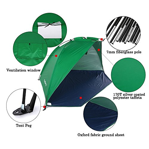 Hyalo ...  sc 1 st  C& Stuffs & Hyalo (TM) Quick Opening Tent Beach Awning Sun Shelter Half-Open ...