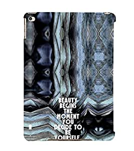 EPICCASE Be yourself Mobile Back Case Cover For Apple Ipad 6 (Designer Case)