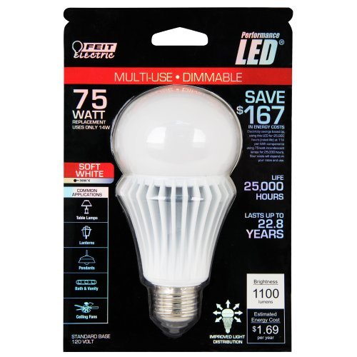 Feit Electric BPAG1100DM/LED A21 LED 75 watt equivalent soft white