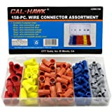 Cal-hawk Wire Connectors - 158 Pieces, with Plastic Storage Case