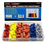 Cal-hawk Wire Nut - Connector Assortment - 158 Pieces, with Plastic Storage Case