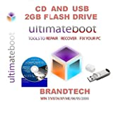 Ultimate Boot CD & USB / Disc Recovery Repair DOS Windows 7 XP Vista 95 98 2011 (USB 2GB FLASH DRIVE)