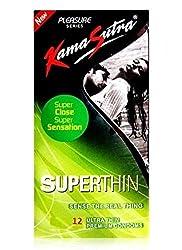 KamaSutra Pleasure Superthin Condom - 12 Pcs (Pack of 2)