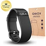 Fitbit Charge HR Screen Protector (10-Pack) - QIBOX Premium Clear Shatterproof Screen Protector for Fitbit Charge HR Wireless Activity Wristband, Anti-Fingerprint & Anti-Scratch Film Cover