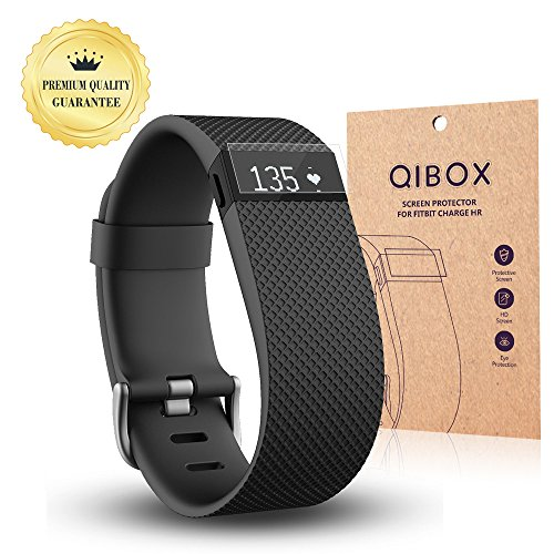 Fitbit Charge HR Screen Protector (10-Pack) - QIBOX Premium Clear Shatterproof Screen Protector for Fitbit Charge HR Wireless Activity Wristband,...