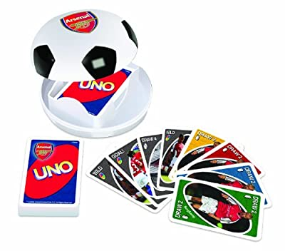 ARSENAL UNO WITH SOCCER BALL holder PLAYING CARD GAME play set