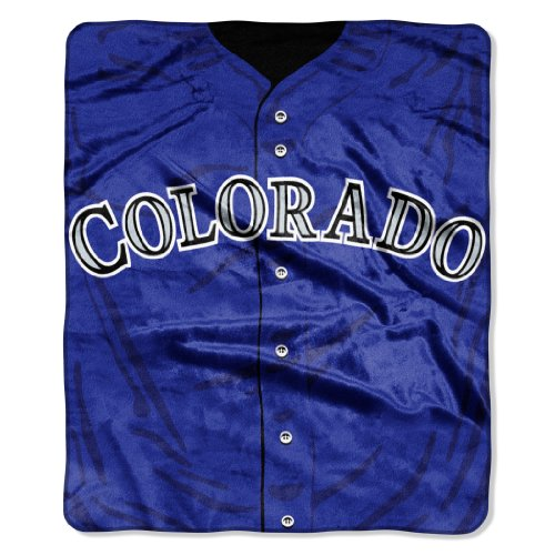 MLB Colorado Rockies Jersey Raschel Throw, 50 x 60-Inch