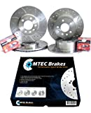 MTEC Brakes Seat Leon 1.8 20v T 00-05 Front Rear Brake Discs+Pads