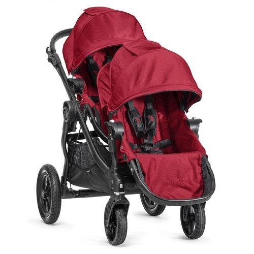Baby Jogger City Select Black Frame Stroller W/ 2Nd Seat, Red front-851591