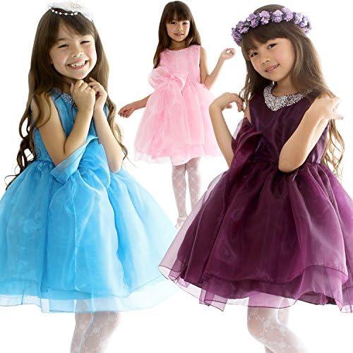 어린이 키즈 드레스 연주회 발표회 파티 코스튬 파니에내장 커다란 리본 원피스 드레스  d-005c