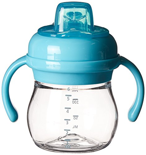 OXO Tot Transitions Soft Spout Sippy Cup Set, Aqua, 6 Ounce (Sippy Cup Set compare prices)