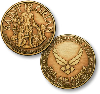 Saint Florian - USAF Emblem Bronze Antique - 1