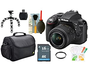 Nikon D3300 (Black) DX-Format Digital SLR Kit with 18-55mm VR II Lens Package 5