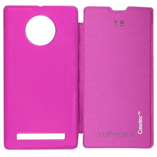 Casotec Premium Flip Case Cover for Micromax YU Yuphoria AQ5010 - Pink