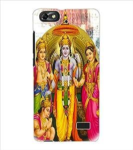 ColourCraft Lord Ram Laxaman Janaki and Hanuman Design Back Case Cover for HUAWEI HONOR 4C