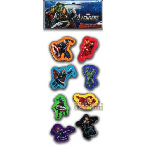Avengers Erasers / Favors (8ct) - 1