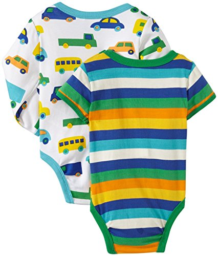 marimekko Baby-Boys Newborn Truck 2 Pack Bodysuit Set, Multi, 6 Months