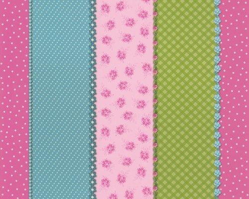 Papel tapiz rayas rosa imagui - Papel de pared de rayas ...