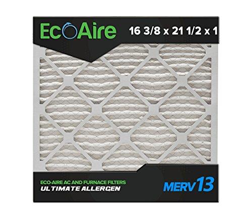 Eco-Aire 16 3/8 x 21 1/2 x 1 Premium MERV 13 Pleated Air Conditioner Filter, Box of 6 (Eco Air Conditioner compare prices)