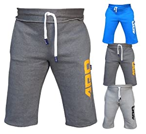 Mens Cotton Fleece Shorts Jogging Casual Home Wear MMA Boxing(S-2XL)