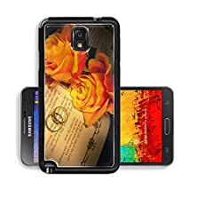 buy Liili Premium Samsung Galaxy Note 3 Aluminum Snap Case Two Wedding Rings And Roses On A Bible With Genesis Text The Decorations In The Book Are Copied Image Id 4944338