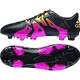 adidas Performance Men's X 15.3 Artificial Turf Soccer Shoe,Black/Shock Pink/Gold,8.5 M US