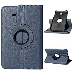 DMG Premium 360 Degrees Rotating Smart Cover Stand Case for Samsung Galaxy Tab 3 Neo Lite T111 7inch (Pebble Blue)
