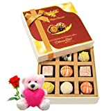 Fine Quality Chocolates With Teddy And Rose - Chocholik Luxury Chocolates