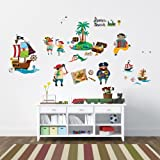 Decowall, DW-1310, Pirates & Treasure Island children's wall stickers