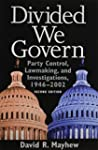 Divided We Govern: Party Control, Law...