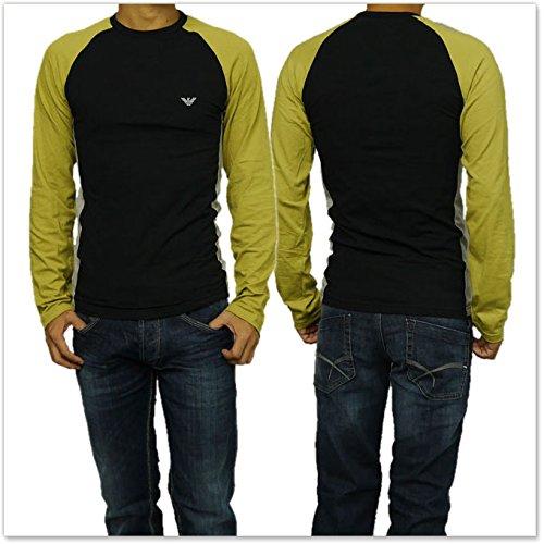 (エンポリオアルマーニ)EMPORIO ARMANI エンポリオアルマーニアンダーウェア メンズラグランロングTシャツ 111552 5A523 ブラック [並行輸入品]