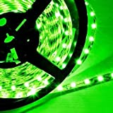 Hitlights Green Flexible Ribbon LED Strip Light, 300 LEDs, 5 Meters (16.4 Feet) Spool, 12VDC Input (Adapter not included)