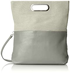 Skagen Ella Leather Fold Over Cross Body Bag, Blue Fog, One Size