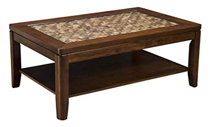 Coffee Table in Brown Merlot Finish